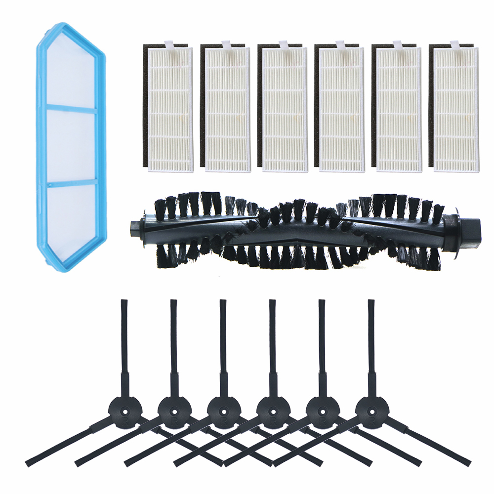 Robot Vacuum Cleaner Replacement Accessories Parts For ILIFE A4 Chuwi Ilife A4s A40 Kits- Filter Main Brush Side Brushes