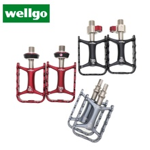 Wellgo המקורי דוושות שחרור מהיר מכשיר M111 Ultralight ללא שחרור מהיר אופניים אופני MTB רכיבה על אופניים דוושות QRD QRD1 QRD2
