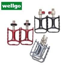 Wellgo original pedais dispositivo de liberação rápida m111 ultraleve não liberação rápida da bicicleta mtb ciclismo pedais qrd qrd1 qrd2