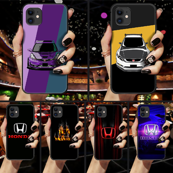 Honda car H logo Phone Case Cover Hull For iphone 5 5s se 2 6 6s 7 8 plus X XS XR 11 PRO MAX black waterproof luxury funda tpu image