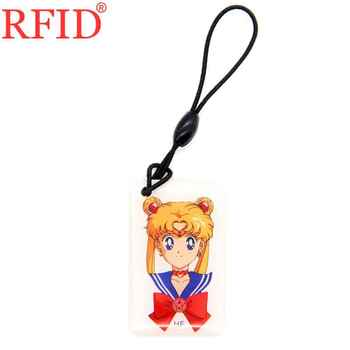 ID 125khz T5577 T5557 T5200 Rewritable Writable Keyfob RFID Card Waterproof Cartoon Keychain Badge Smart Tag Access Control Card image