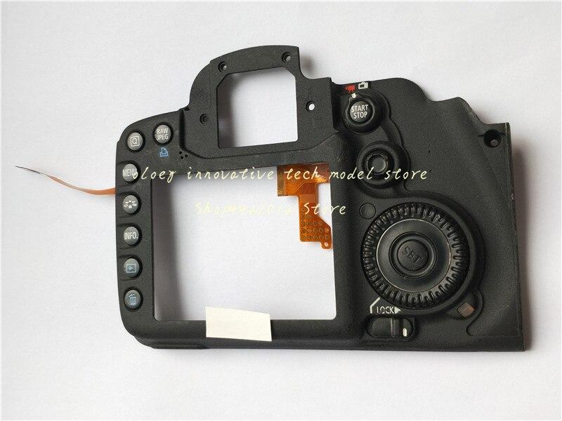 Nova capa traseira de substituição para canon 7d postoperculum capa traseira câmera peças reparo com botão