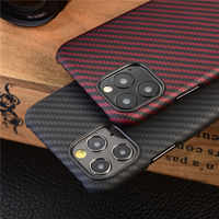 Aramid fiber Back Cover For apple iphone 11 pro max XS XR X Protective Case carbon Cases and covers bumper Official Design