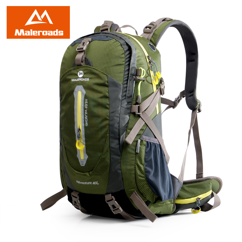 <font><b>Maleroads</b></font> 40L Hiking Backpack Trekking Rucksack Travel backpack Outdoor Sport Bag for Women Men Climber Camping Backpack <font><b>Mochila</b></font> image