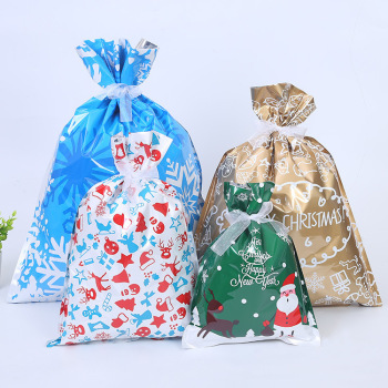 Santa Claus Christmas Gift Bags Merry Christmas Decoration for Home Christmas Sacks Candy Bag Xmas Kids Gift Happy New Year image