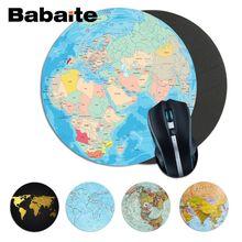 Alfombrilla de ratón redonda Babaite Vintage Cool Earth Planet alfombrilla para ordenador portátil alfombrilla ratón para juegos