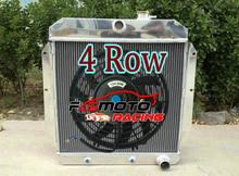 3 REIHE Aluminium Kühler + Lüfter Für Chevy Pickup Truck C/K 3000 Serie Suburban 3.5/3.8/4,3 L 217/235/261Cu 1947-1954 AT/MT