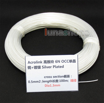 LN004379 100m Acrolink Silver Plated OCC Signal  Wire Cable 0.35mm2 Dia:1.2mm For DIY