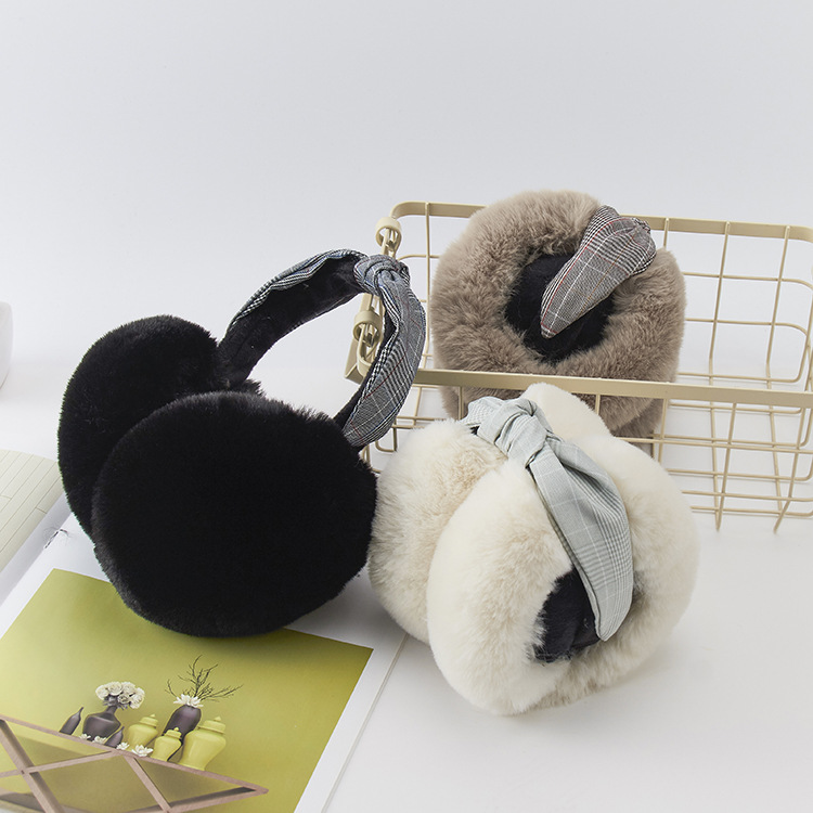 Fashion Folding Ear Muffs Winter Accessories For Women Faux Fur Fluffy Ear Muffs Winter Accessories Wholesale