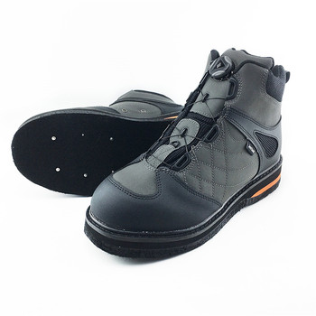 Oryginalne JEERKOOL Fly wodery wędkarskie buty do wody samoblokujące filcowe podeszwy z gwoździami samozamykające się rybki wodery siateczkowa tkanina tanie i dobre opinie CN (pochodzenie) Unisex Upstream self locking 01
