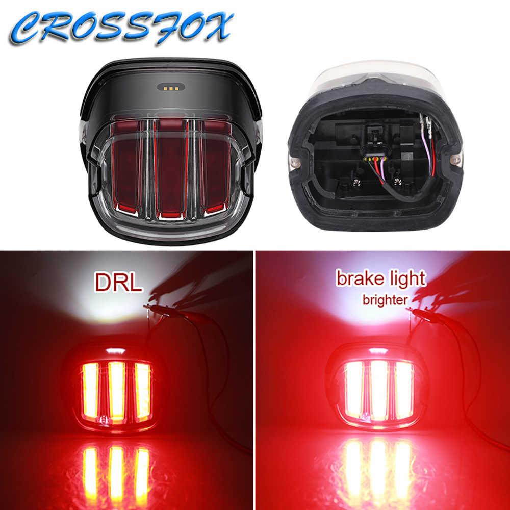 Motorrad Bike Hinten Schwanz Stop Rot Licht für Harley Touring Sportster XL883 Bike Rücklicht DRL Lampe Bremsen Licht Café rennen