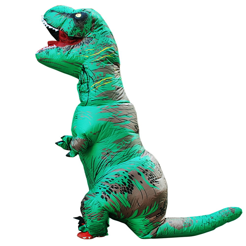 Kids Inflatable Dinosaur Costumes Party Suit T-Rex Anime Cosplay Prop Cloth Carnival Halloween Costume Christmas for Adult Child