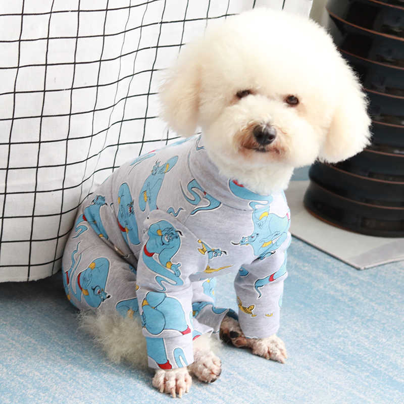 Pet Dog Jumpsuit Puppy Clothes Protect Belly Overalls For Small Dogs Pajamas 100%Cotton Long Sleeve Sweatshirt Chihuahua Poodle