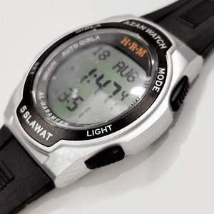 Image 4 - Muslim Sport Wristwatch with Qiblah Alfajr Time Azan Alarm Watch Waterproof