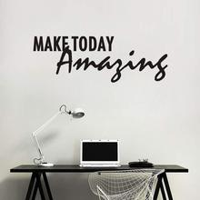 "Simple Creative Text Combination Decorative Wall Paste ""Make Today Amazing""  English Home Decoration"