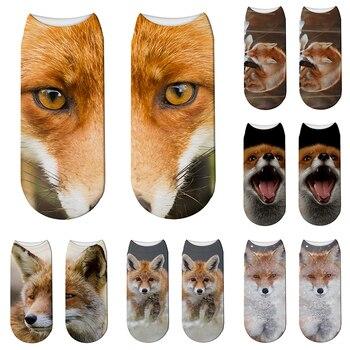 New 3D Printed Animal Socks Female Elastic Short Summer Sports Breathable Happy Unisex Crew Children Gift