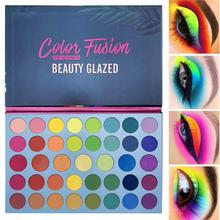39 Colors Rainbow Eyeshadow Fluorescent High Gloss Palette Shimmer Christmas Party Holiday Supplies