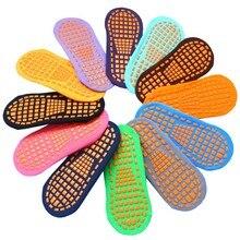 12 pairs / Pack Indoor sports socks Men & women child trampoline pvc rubber anti-slip cotton yoga Foot massage