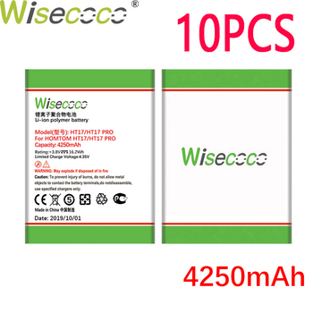 WISECOCO 10PCS 4250mAh Battery For HOMTOM HT17 HT 17 PRO Phone In Stock Latest Production High Quality Battery+Tracking Number