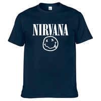 Nirvana Hip Hop männer T-Shirt Sommer Rock Band Harajuku Gedruckt T-Shirt 100% Baumwolle Komfortable Straße Kleidung Lose Oansatz Top