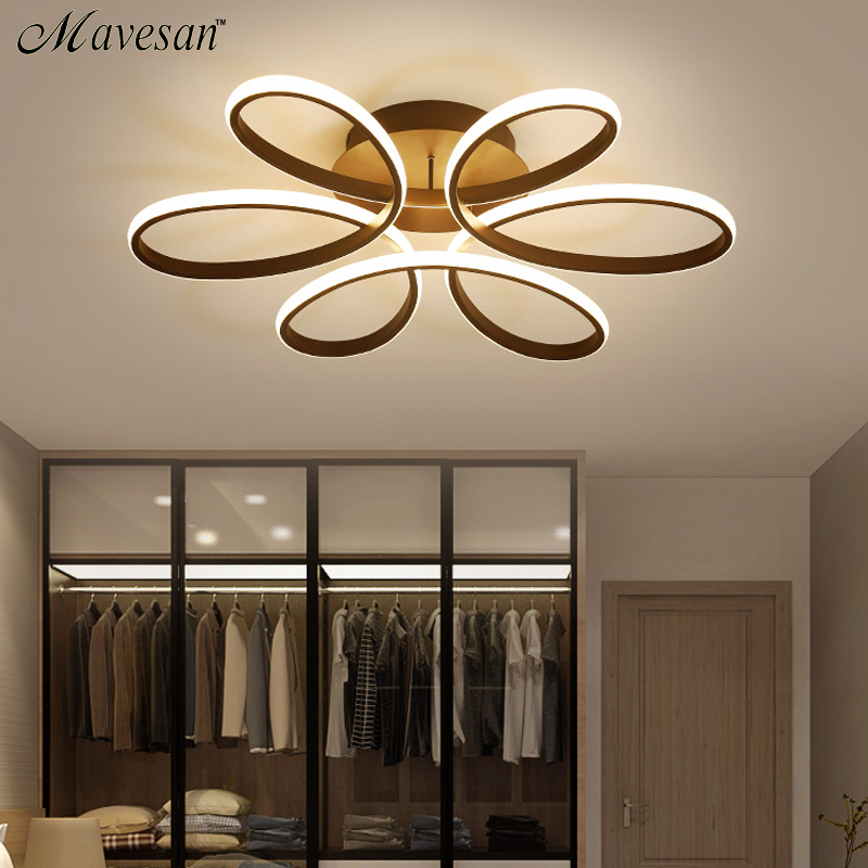 Living room ceiling lamp led dimmable for bedroom aluminum body indoor lighting fixture plafonnier led lights dining room
