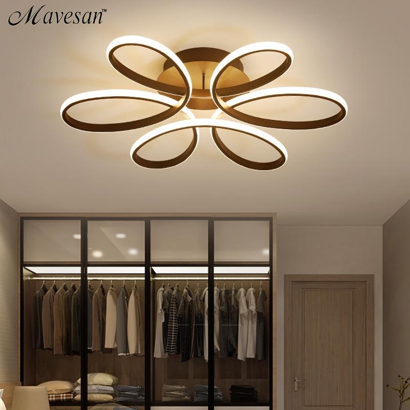 Luminaire d'éclairage d'intérieur, luminaire de plafond de salon à led dimmable pour la chambre à coucher corps en aluminium luminaires led pour la salle à manger
