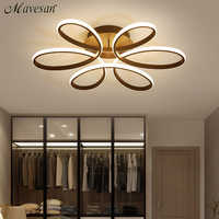 Nueva moderna lámpara de techo led para sala de estar dormitorio comedor cuerpo de aluminio interior iluminación interior del accesorio AC90-265V
