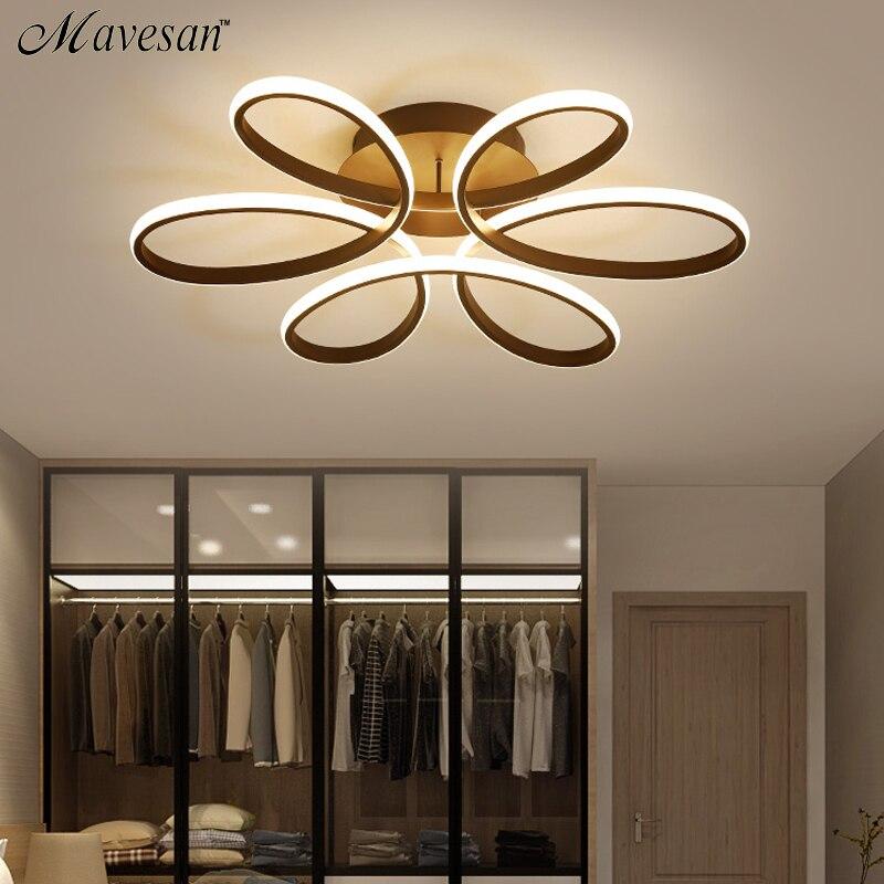 Sala de estar lâmpada do teto led pode ser escurecido para o quarto corpo alumínio luminária interior plafonnier luzes led sala jantar