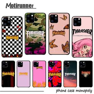 Motirunner Thrasher Logo Luxury Phone Case Coque For Iphone 5s Se 2020 6 6s 7 8 Plus X Xs Max Xr 11 Pro Max Silicone Cases Cover(China)
