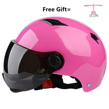 Motorcycle Open Face Half Helmet Electric Bicycle Riding Unisex Breathable Sunscreen Summer Helmets free size for adult