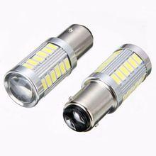 1157 P21 5w BAY15D 5630 5730 светодиодный водонепроницаемый автомобильный фонарь Передняя лампочка тормозной свет супер яркий