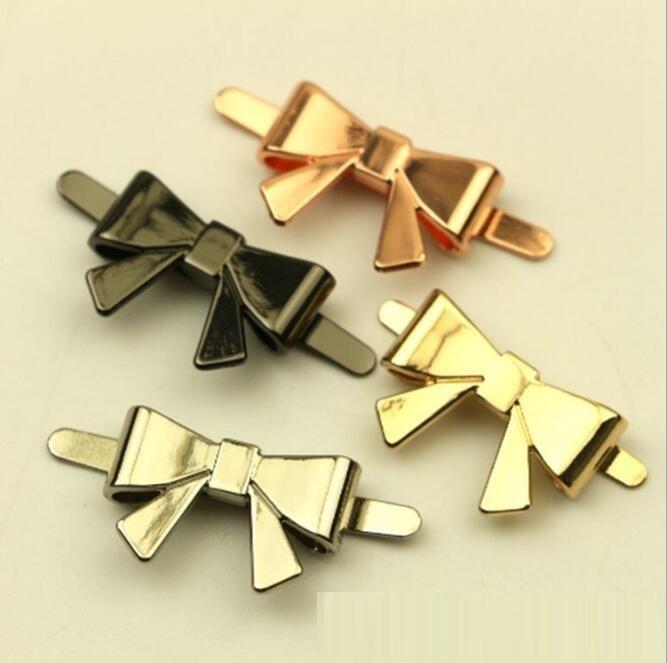 (10 Pcs/lot) Luggage Handbag Hardware Accessories Metal Bow Handbag Decorative Buckle Shoe Buckle