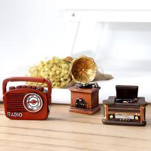 Estatuilla de máquina de escribir fonógrafo Retro Mini escultura arte Decoración de mesa de electrodomésticos vintage con exquisita mano de obra