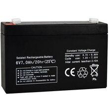 6V 7AH bateria 6V7AH dla elektryczna zabawka dla dzieci samochód nosidełko dla dziecka UPS Backup biurko LED Light akumulator kwasowo-ołowiowy akumulator nowy