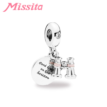 MISSITA Mini Telescope Beads fit Brand Bracelets Necklaces for Women Jewelry making Charm Accessories