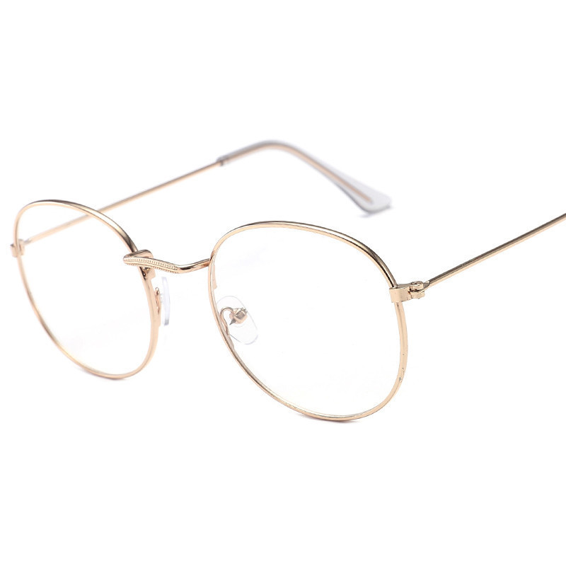 Fashion Round Women's Glasses Frame Classic  Metal Frame Optical Glasses Transparent Computer Oval Eyeglasses Frame Reading