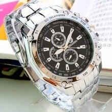 ORLANDO Men Watches Stainless Steel Watch Sports Fashion Blue Dial Quartz Clock relogio masculino reloj hombre