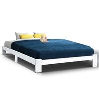 Artiss Queen Wooden Bed Base Frame Size JADE Timber Foundation Mattress Platform Modern Soft Beds Home Bedroom Furniture