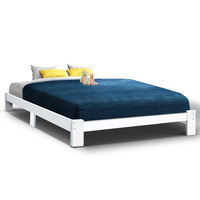 Artiss Queen Wooden Bed Base Frame Size JADE Timber Foundation Mattress Platform Modern Soft Beds Home Bedroom Furniture AU