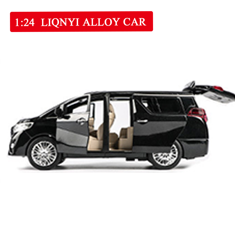 High Simulation MPV 1:24 <font><b>Scale</b></font> Alloy <font><b>Car</b></font> Pull Back Doors Open <font><b>Car</b></font> Toy Collection Model Toys for Children Free Shipping image