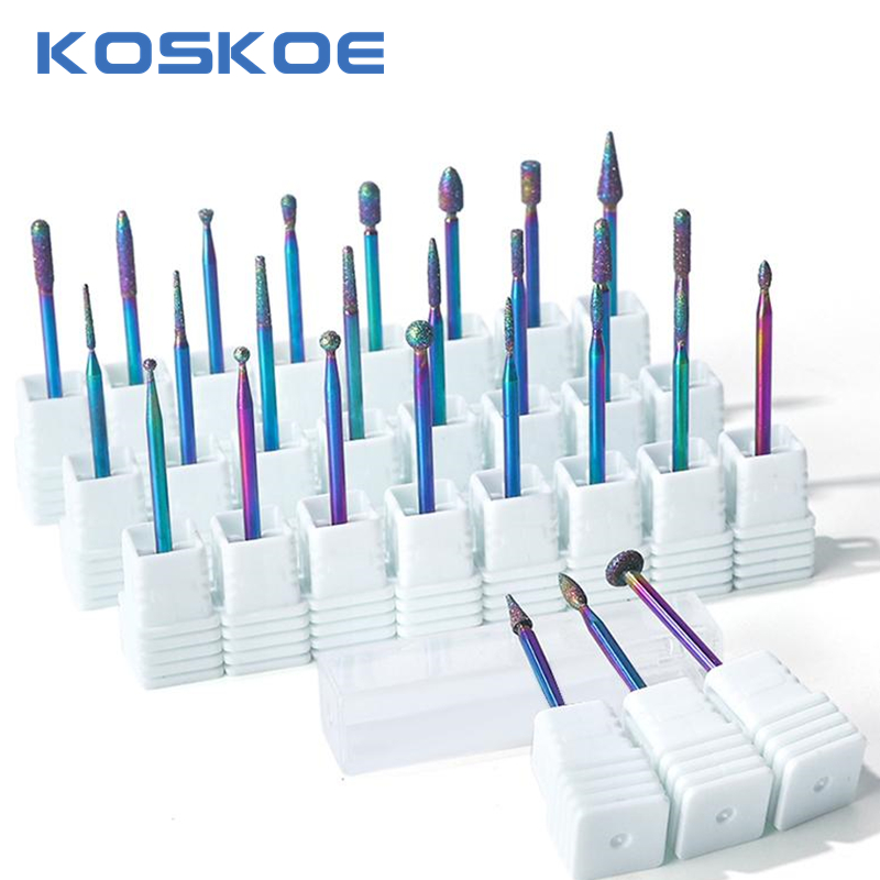 KOSKOE Ceramic Nail Drill Bits Diamond Milling Cutter For Mani-cure Rotary Bits Cuticle Clean Accessories Nail Files Art Tools