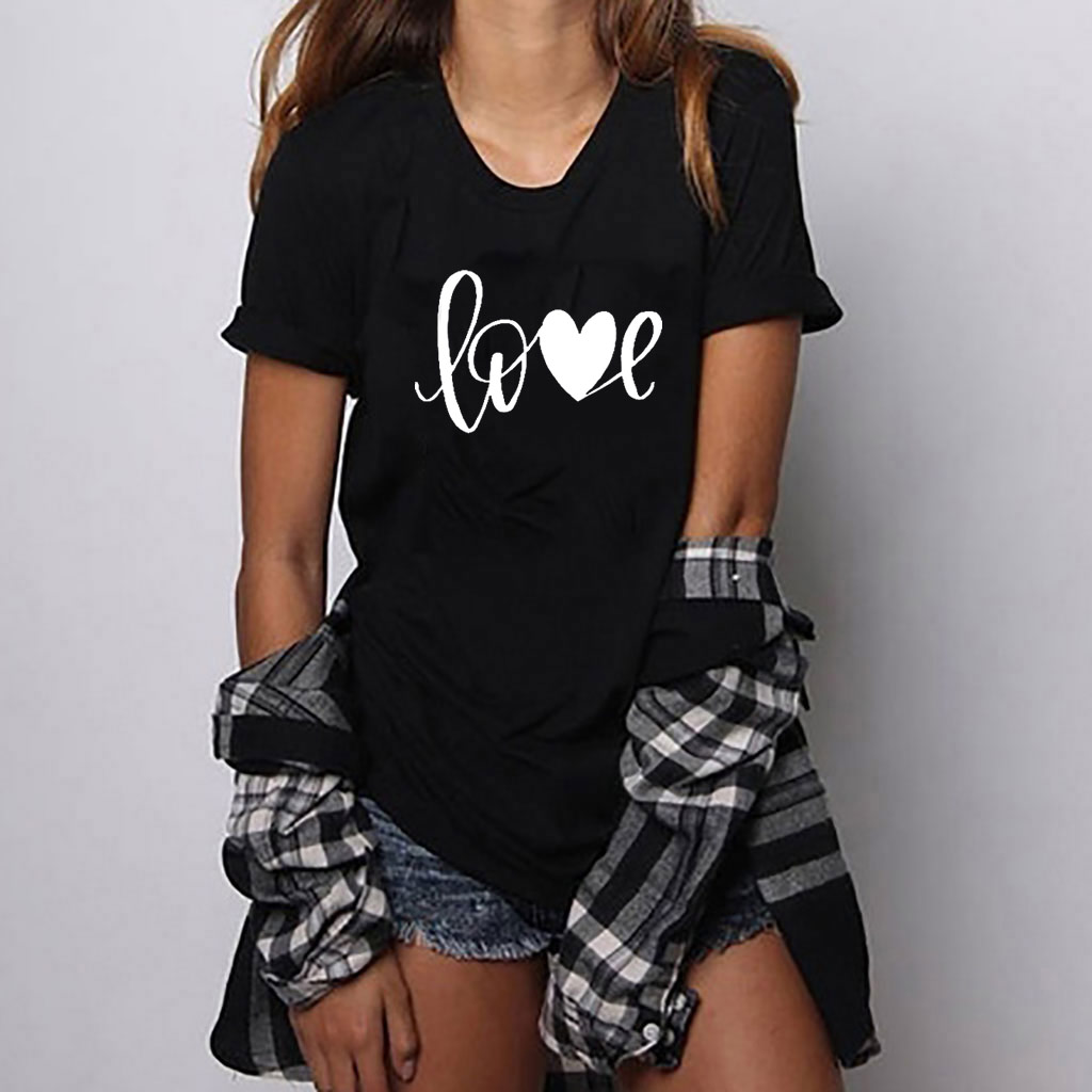 Hillbilly Love Heart love print <font><b>women</b></font> t shirt short sleeve <font><b>Graphic</b></font> Tshirt <font><b>Women</b></font> Loose <font><b>Tee</b></font> Shirt <font><b>2019</b></font> Clothes Brand For Girls image