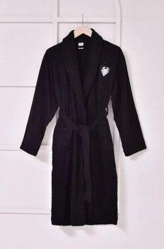Unisex Robe Embroided Cotton High Quality халат банный женщины мужчины Women Men Soft