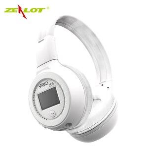 Image 4 - ZEALOT auriculares plegables B570 con Bluetooth, auriculares inalámbricos con estéreo HIFI y pantalla LCD, con Radio FM y ranura para microSD
