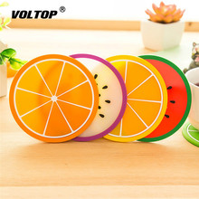 Fruit Coaster Colorful Silicone Drinks Cup Holder Mat Tableware Placemat Car Mat Universal Accessories