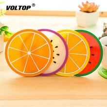 Meyve Coaster renkli silikon içecekler bardak tutucu Mat bulaşığı Placemat araba Mat evrensel aksesuarları