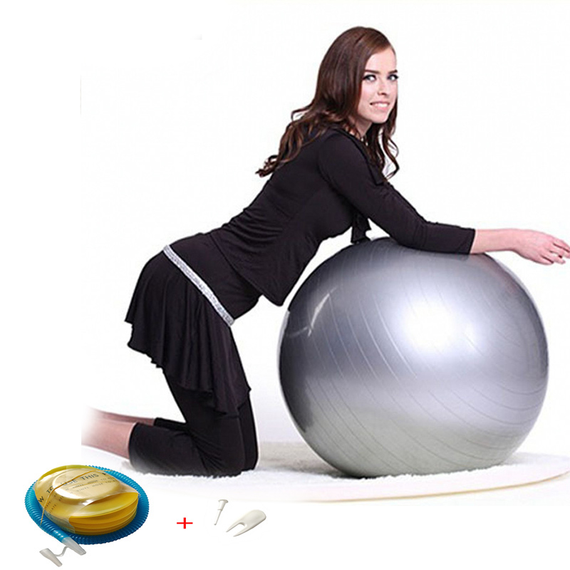 Yoga-Balls Balance Massager-Point Fitball Exercise Fitness Pilates Gym with Pump 75/85CM