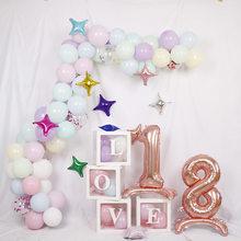 32 pulgadas pie digital globo aluminio 0-9 digital decoración de fiesta un año cumpleaños decoración de vacaciones puede ser al por mayor
