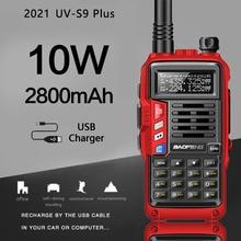 2021 BaoFeng UV S9 플러스 10W/8W 휴대용 워키 토키 20km 장거리 햄 라디오 송수신기 baofeng uv 5r 양방향 라디오