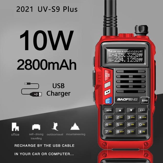 2021 BaoFeng UV S9 Plus 10W/8W Portable talkie walkie 20km longue portée jambon Radio émetteur récepteur de baofeng uv 5r Radio bidirectionnelle
